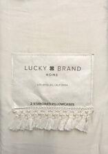 Lucky Brand Fringe Hem Set of two Standard Pillowcase