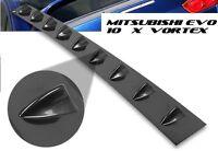Mitsubishi 07+ Evo X Evo 10 Roof Wing Spoiler Glossy Black ABS Vortex Generator