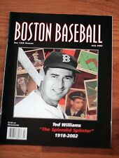 2 diff Boston Baseball, including Special Ted Williams July 2002 issue and Apri