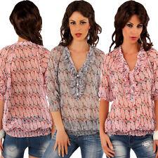 Locker sitzende 3/4 Arm Damenblusen, - tops & -shirts mit Rüschen-Blusen