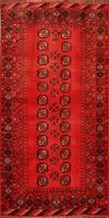 Vintage Geometric Balouch RED Area Rug Hand-Knotted Tribal Oriental 3'x6' Carpet