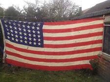 More details for vintage 48 star american flag red white blue stars and stripes spangled banner