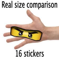16 X Lego Ninjago Große Augen Aufkleber für Luftballons, Taschen, Teller & Party