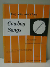 Easy Solos & Duets Cowboy Songs for Clarinet Sheet Music Piano Accompaniment
