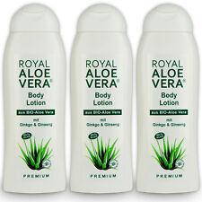 3 x Royal Aloe Vera Body Körper Lotion mit Ginko, Ginseng, 60% Bio Aloe Vera
