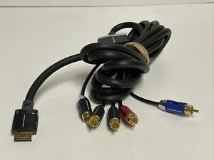 Monster Component Audio Video Cable For PlayStation 3 PS3 Black KMP184 2E