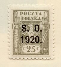 Silesia 1920 Early Issue Fine Mint Hinged 25f. Optd 272724