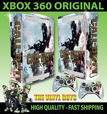 XBOX 360 BLACK OPS II Inverno Call of Duty console Adesivo Skin NUOVI E 2 SKIN Pad