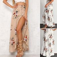 BOHO Hippy Gypsy Women Floral Long Maxi Skirt Casual Summer Beach Wrap Sun Dress