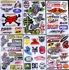 6 Sheets scooter cut motocross Stickers quad mx DIRT Energy Rockstar BMX Bike da