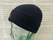POLO RALPH LAUREN Fold-Up Beanie Mens Rib Cuffed Wool Hat Navy Cap BNWT R£50