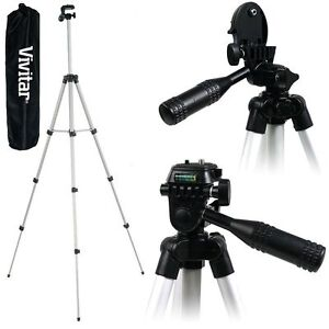 """Vivitar 50"""" Lightweight Photo/Video Tripod With Case For Nikon Coolpix Camera"""