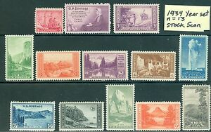US 1934 Commemorative Yr Set: Sc 736//749. National Parks, Mother's Day ALL NH