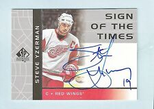 STEVE YZERMAN 2002/03 SP AUTHENTIC SIGN OF THE TIMES AUTOGRAPH AUTO