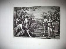 REBECCA to POZZO. engraving original 1842.Nipote by Abraham