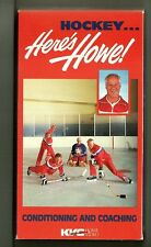 HOCKEY HERE'S HOWE VHS Gordie Instructional Video COACHING & CONDITIONING