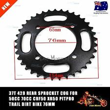 428 37T  Rear Chain Sprocket Cog for Motorbike Thumpstar Atomic Dirt Bike Black