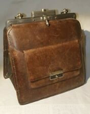 Vintage kleine Damen Leder Tasche Lederhandtasche antik um 1900 - 1910