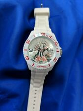 Ed Hardy White Panther Roses LADIES watch, new battery