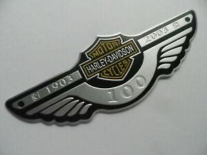 Harley Davidson - 3D Aluminium Plakette, Aufkleber, Motorrad Emblem, USA, badge,