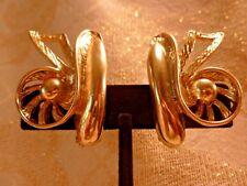 Selro Selini Vintage Clip On Earrings Exceptional Rare Designer Earrings Retro
