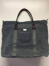 NWT New Billykirk Gray Waxed Canvas And Leather Large Zip Tote Bag 246 USA Made