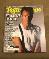 STING ISSUE OF ROLLING STONE MAGAZINE 457 SEPTEMBER 26TH, 1985