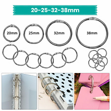 More details for 2-20pcs metal silver binding clips loose leaf rings book binder album key chain