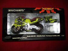 MINICHAMPS® 122 016946 1:12 Honda NSR 500 V. Rossi Pre-Season Testbike 2001 NEU
