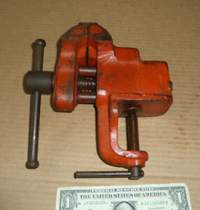 Vintage Wilton Clamp On Vise,Chicago,USA,Double Bar Guide,&Screw,Old Smooth Tool