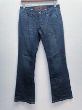 NMX Ninomaxx Women 28 Regular Straight Flare Fit Blue Denim Jeans Cotton Blend