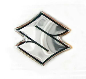 """ORIGINAL Suzuki """"S""""-EMBLEM-LOGO-3cm Aufkleber-Emblema-Sticker-Decal-30mm-Chrom"""