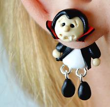 vampire earrings Dracula Halloween earrings two part earring front back earring
