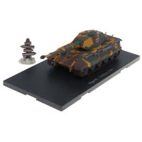 Military Model Toy 1:72 Scale WWII Tiger II-Wallonia 1944 Tank Vehicle Model
