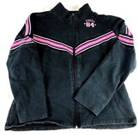 Hanes Sport Black and Pink CHEER  Sport ZIP Up Jacket in Size S (F1)
