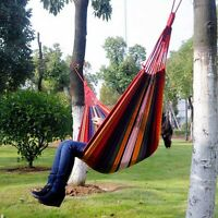 Canvas Hammock Camping Hanging Portable Travel Outdoor Swing Fabric Bed