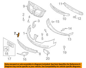 Lincoln FORD OEM 13-18 MKT Front Bumper-Ornament DE9Z8213AA