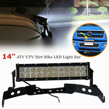 "1*72W 14"" LED Light Bar Fog Lamp For ATV UTV Dirt Bike w/Handlebar Mount Bracket"