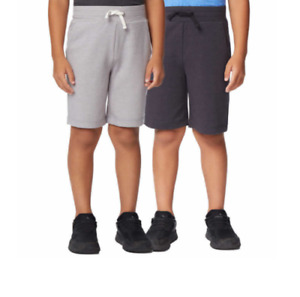 32 Degree Cool Youth Quick Dry 2-Pack Active Short Greys  Small 7/8 NWOT