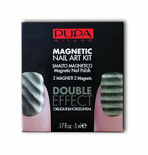 PUPA NAIL ART KIT 25 MAGNETIC KHAKI - 1 SMALTO BASE 5ML + 1 SMALTO TOP 5ML