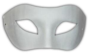 10 x Half Face Mask Paint Plain Masquerade Venetian Fancy Dress Party Decorate