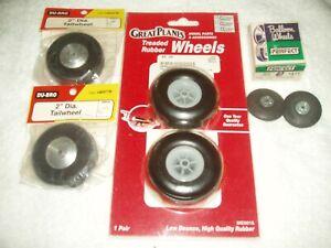 Assorted of GreatPlanes /Du-Bro/Perfect wheels