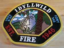 Fire Department Idyllwild 3D routed carved wood patch plaque sign Custom