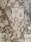 1700'S XL HAND LOOMED CASTLE FABRIC MEDIEVAL REVIVAL GRIFFIN LION TOWER SHIELD