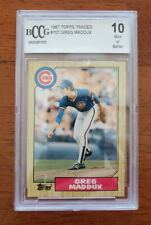 1987 Topps Traded #70T Greg Maddux Rookie XRC BCCG 10