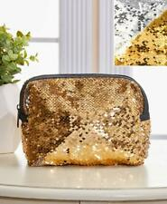 Reversible Metallic Sequin Cosmetic Bags  NEW!!  #PW318