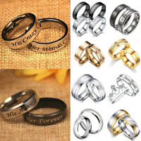 925 Silver Men Women Couples Ring CZ Band Ring Party Wedding Engagement Jewelry
