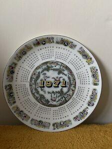 "Wedgwood Calendar Collectors Plate 1971, 10"" in diameter (416)"