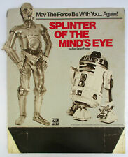 RARE 1978 SPLINTER OF THE MINDS EYE DISPLAY STAND Advertisement Star Wars Poster