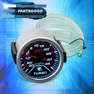 """For IS250 IS350 Civic S2000 RSX Accord EVO 2"""" Turbo Boost Gauge Smoked Tint 52MM"""